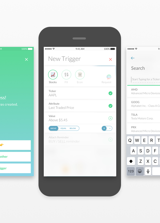 Trigger Finance Mobile UI